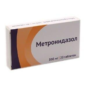 Упаковка препарата Метронидазол