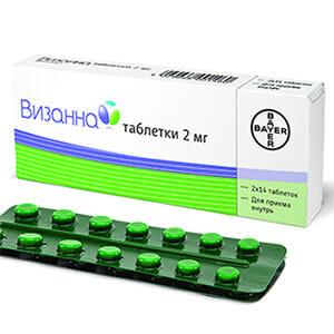 Зеленые таблетки Визанна