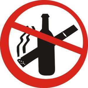 Нельзя алкоголь и табак