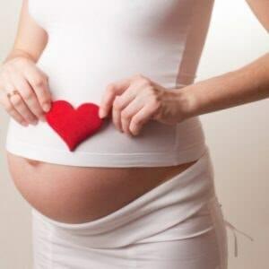 Беременна с сердечком