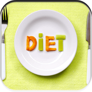 Слово диета на тарелке