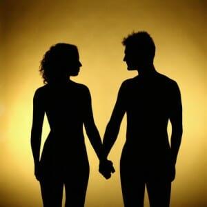 Тень мужчины и женщины