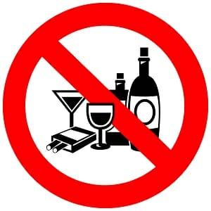 Значок, запрещающий алкоголь