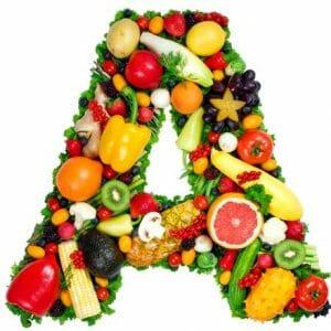 Буква А из фруктов