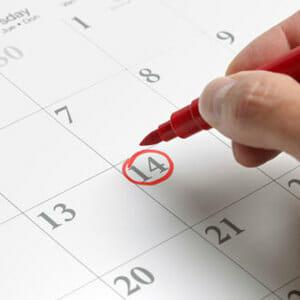 Отметка в календаре
