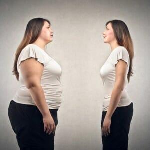 Толстая и худая девушка