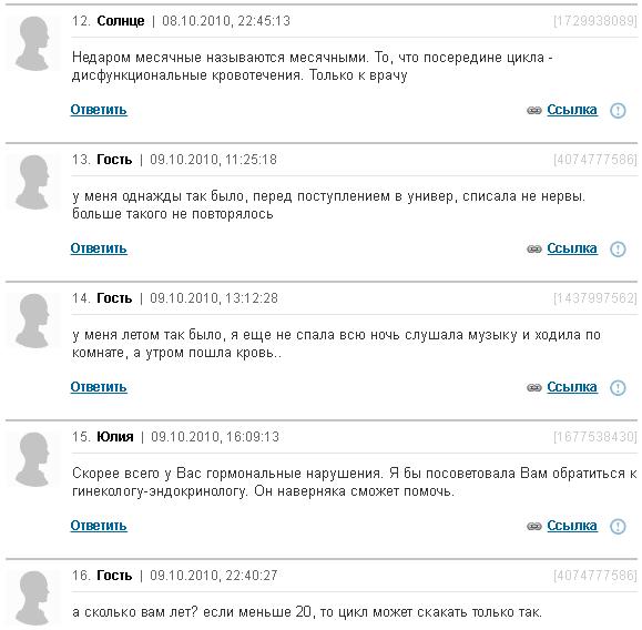 Отзывы о месячных два раза в месяц