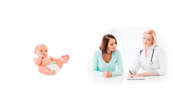 Ребенок женщина и врач
