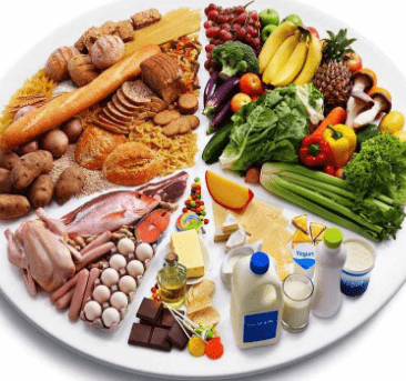Тарелка с продуктами